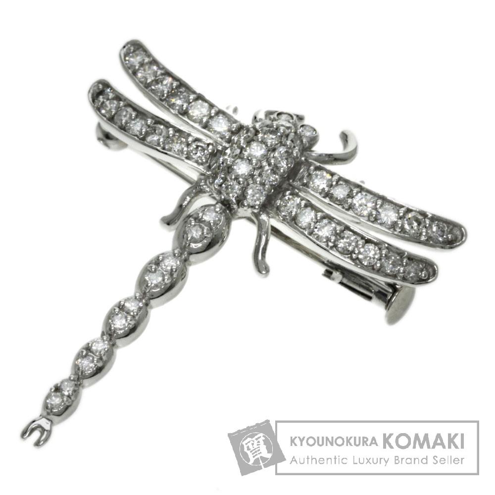 1.00ct ダイヤモンド ブローチ K18ホワイトゴールド/K14WG 5.4g レディース 【中古】