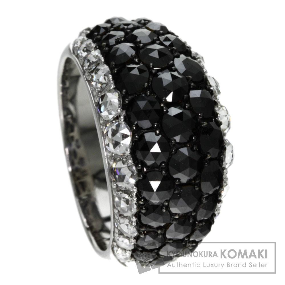 4.27ct ブラックダイヤモンド/ダイヤモンド リング・指輪 K18ホワイトゴールド 12.7g レディース 【中古】