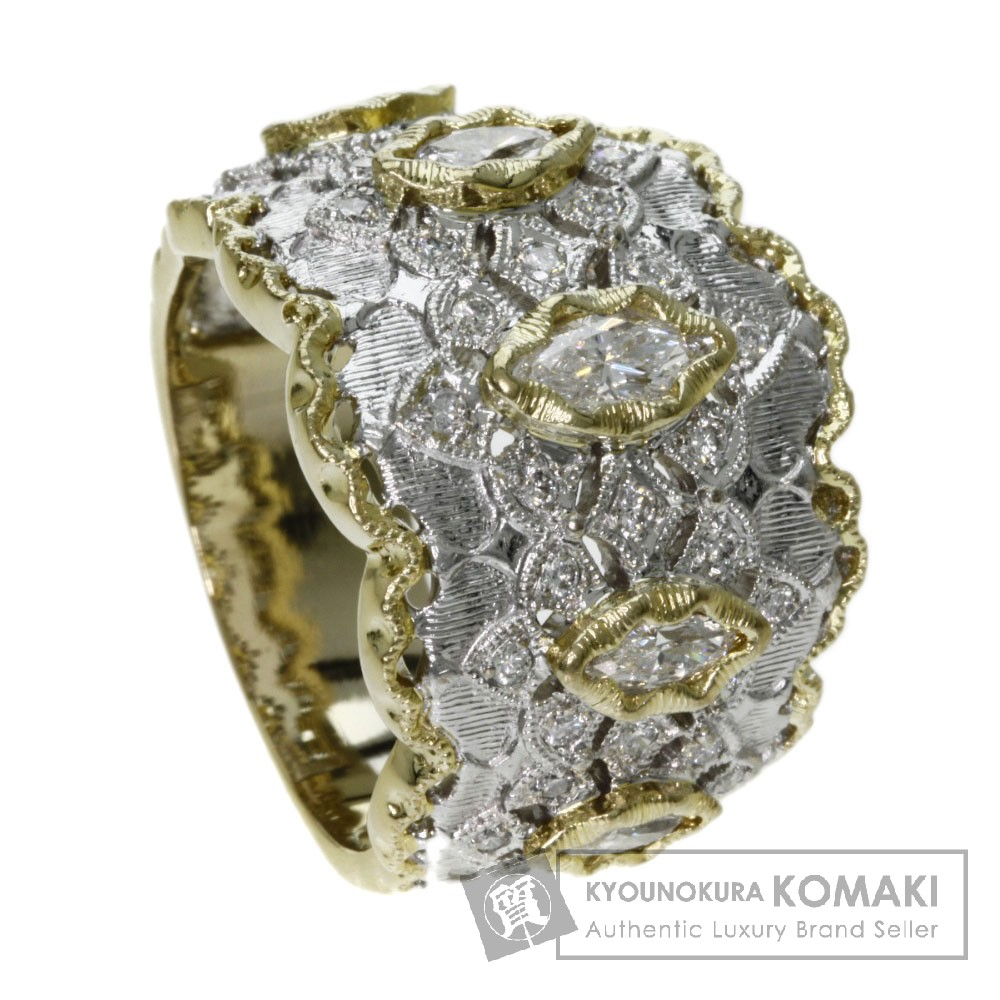 0.58ct ダイヤモンド リング・指輪 K18イエローゴールド 14.8g レディース 【中古】