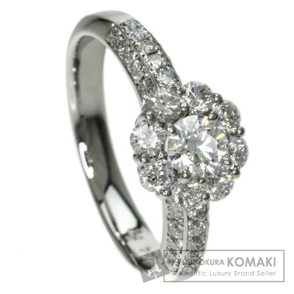 0.244ct ダイヤモンド リング・指輪 プラチナPT900 2.4g レディース 【中古】