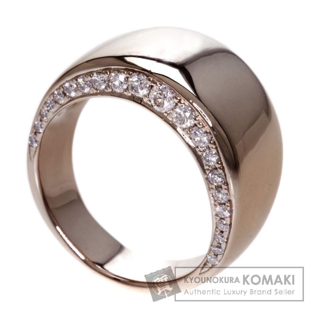 1.008ct ダイヤモンド リング・指輪 K18ピンクゴールド 18.5g レディース 【中古】