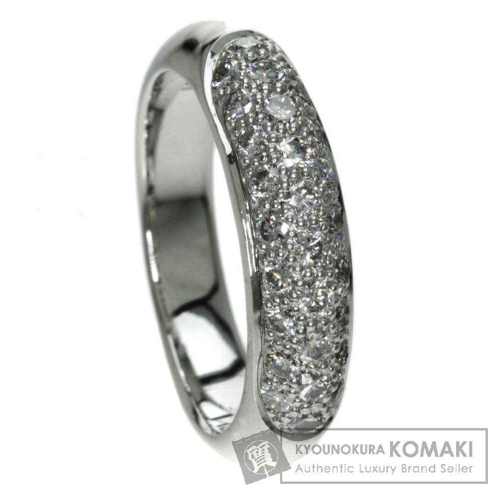 0.81ct ダイヤモンド リング・指輪 K18ホワイトゴールド 7.2g レディース 【中古】