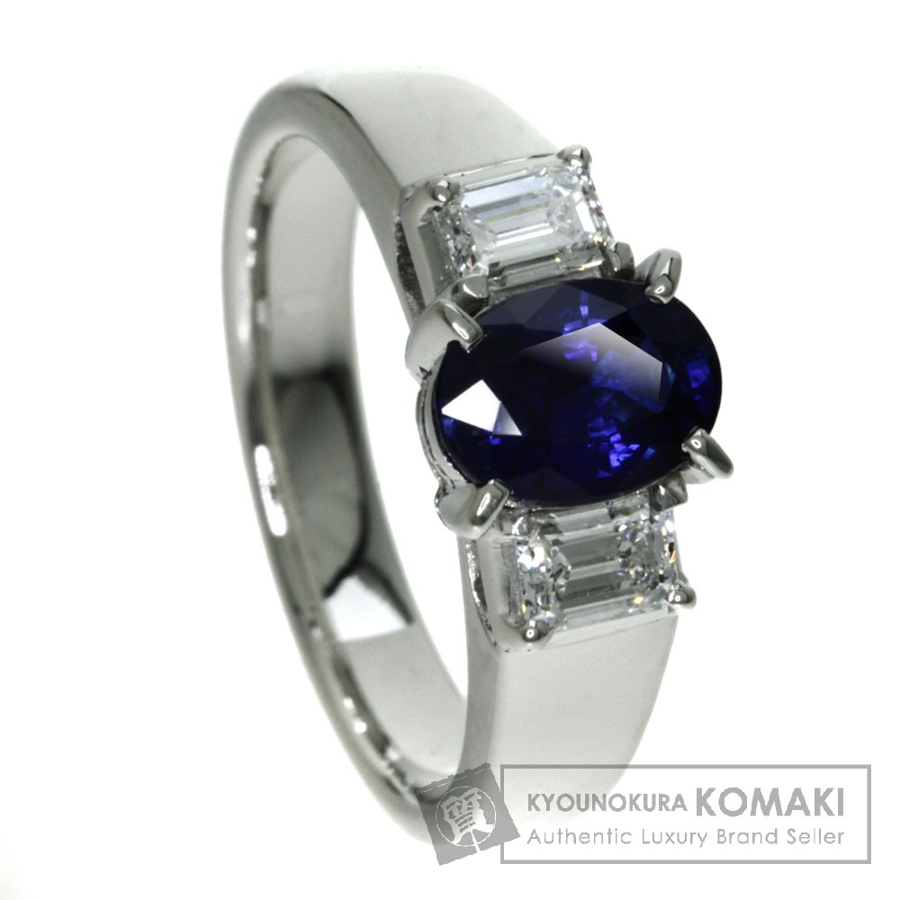 1.41ct サファイア/ダイヤモンド リング・指輪 プラチナPT900 9.3g レディース 【中古】