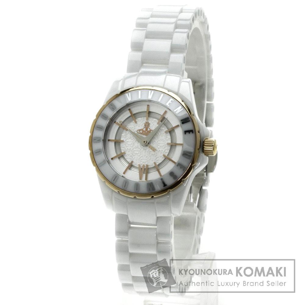 Vivienne Westwood VV088RSWH 腕時計 セラミック レディース 【中古】【ヴィヴィアンウエストウッド】