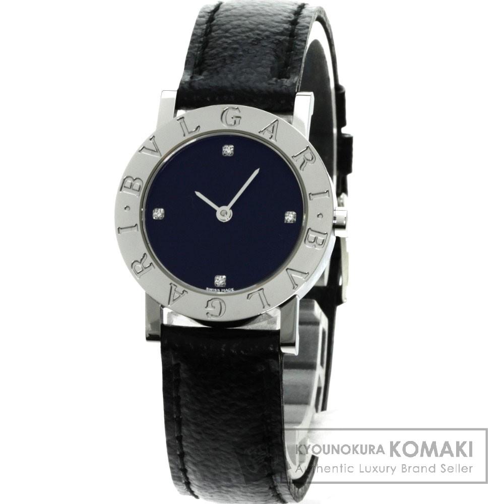 BVLGARI BB26SL ブルガリブルガリ 4Pダイヤモンド 腕時計 ステンレス/革 レディース 【中古】【ブルガリ】