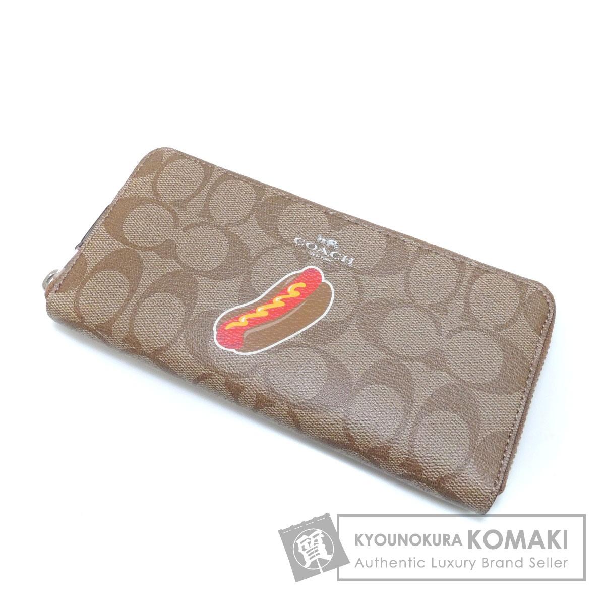 COACH F57823 シグネチャー 長財布(小銭入れあり) PVC レディース 【中古】【コーチ】