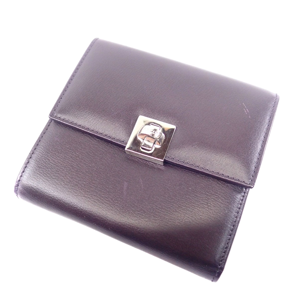 c09908b36f11 BALLY がま口 二つ折り財布(小銭入れあり) レザー レディース 【中古 ...