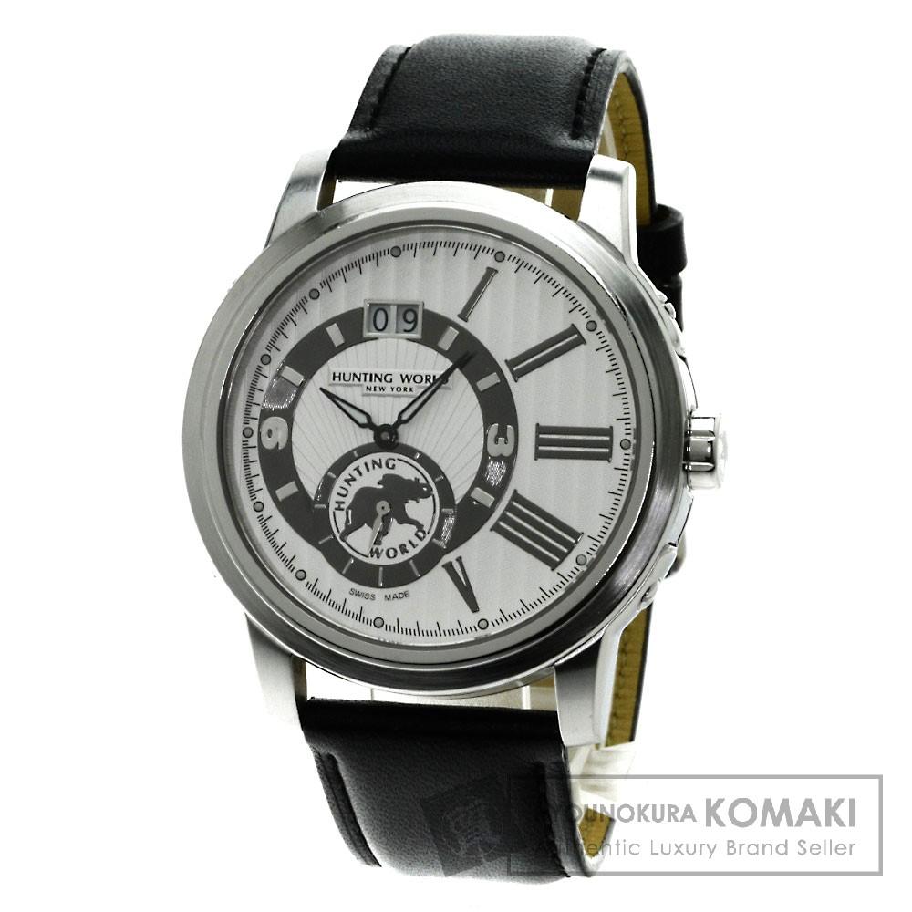 HUNTING WORLD HW-910 腕時計 ステンレス/革 メンズ 【中古】【ハンティングワールド】