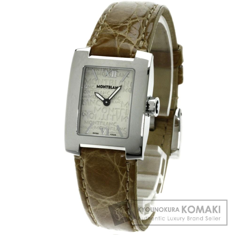 MONTBLANC 7047 プロファイル 腕時計 ステンレス/革 レディース 【中古】【モンブラン】
