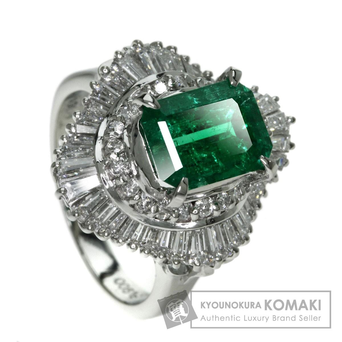 2.36ct エメラルド/ダイヤモンド リング・指輪 プラチナPT900 10.4g レディース 【中古】