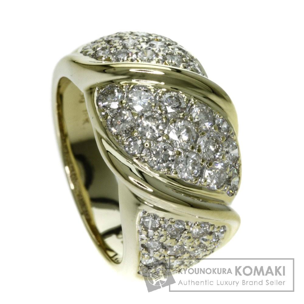 1.7ct ダイヤモンド リング・指輪 K18ゴールド 10.9g レディース 【中古】
