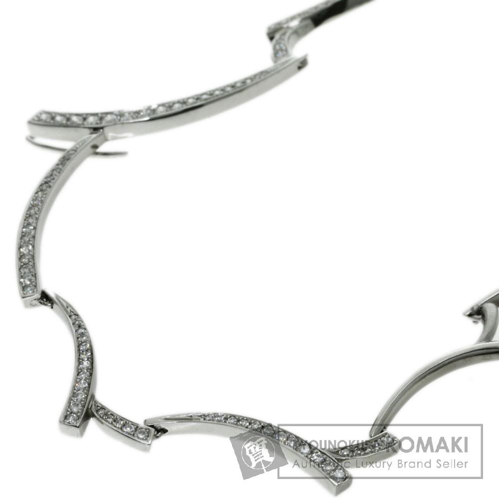 1.2ct ダイヤモンド Tokicolle ネックレス K18ホワイトゴールド 24.5g レディース 【中古】