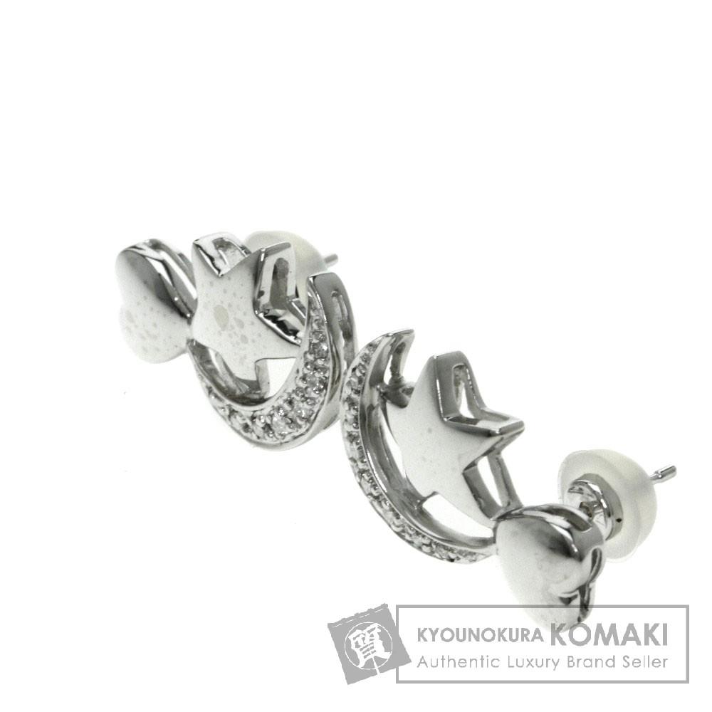 CARATI ダイヤモンド ピアス K18ホワイトゴールド/K14WG レディース 【中古】【カラチ】