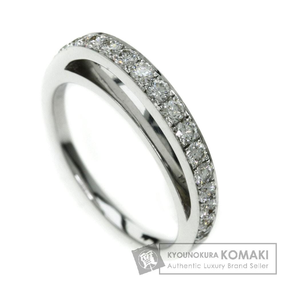 0.48ct ダイヤモンド リング・指輪 K18ホワイトゴールド 3.8g レディース 【中古】