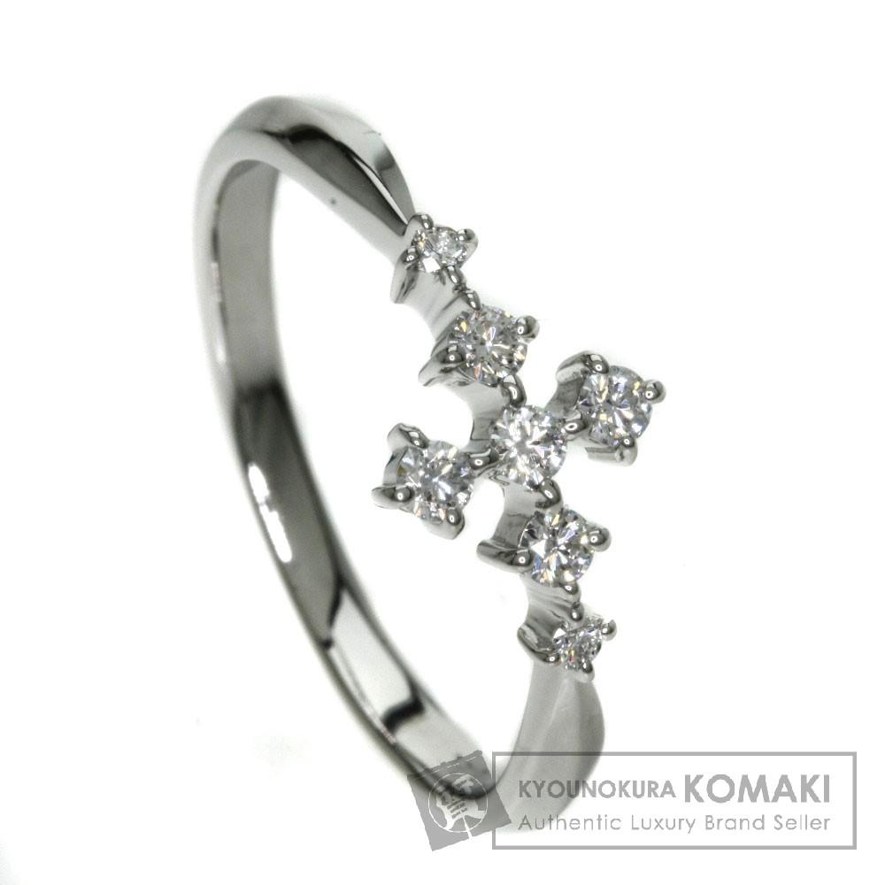 0.2ct ダイヤモンド リング・指輪 プラチナPT900 3.5g レディース 【中古】