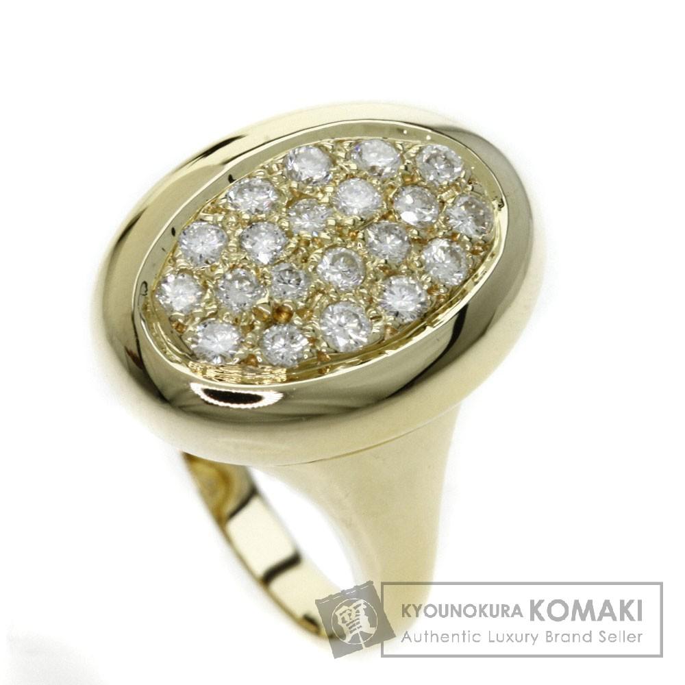 0.5ct ダイヤモンド リング・指輪 K18イエローゴールド 6.5g レディース 【中古】