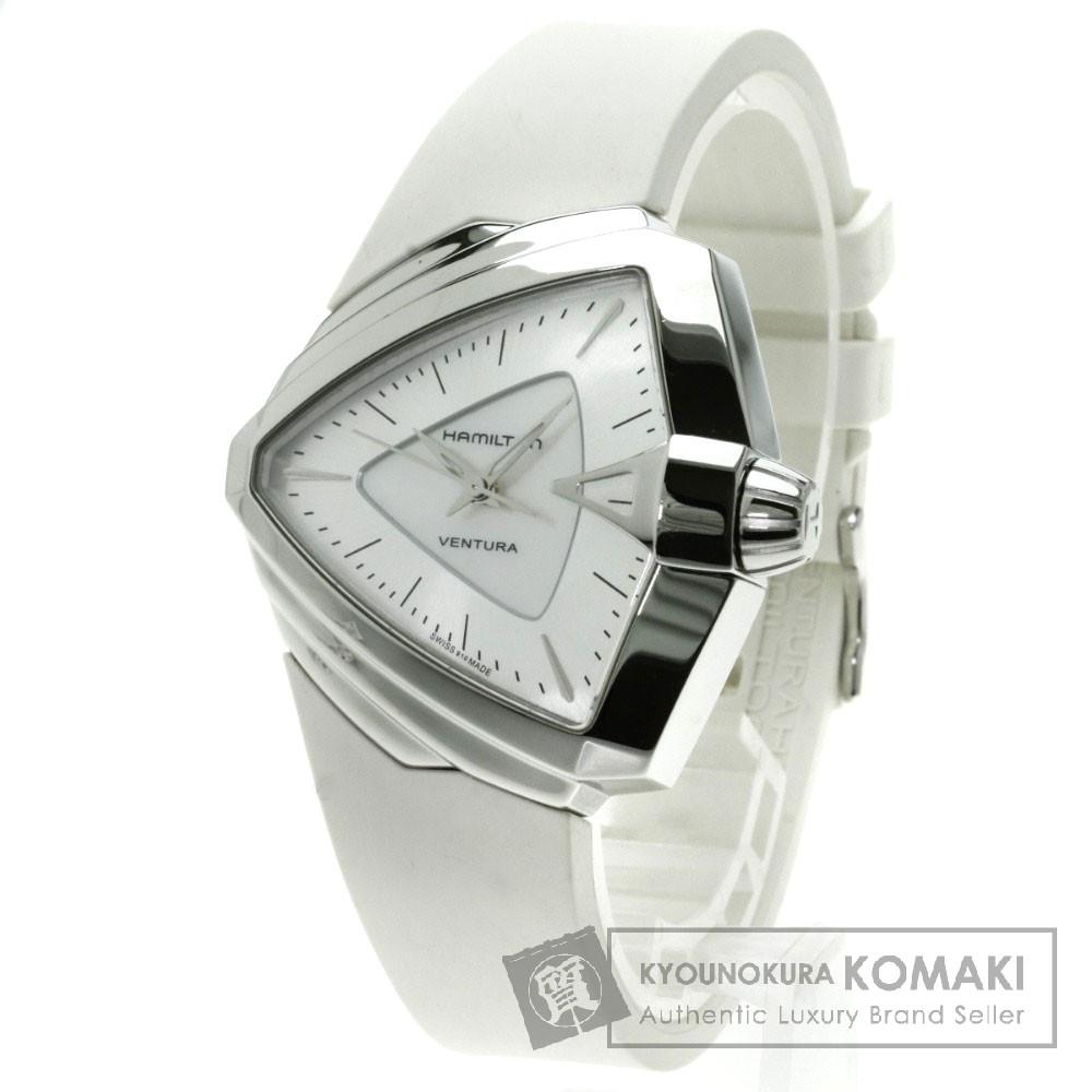 HAMILTON H24251391 ベンチュラ 腕時計 ステンレス/ラバー レディース 【中古】【ハミルトン】