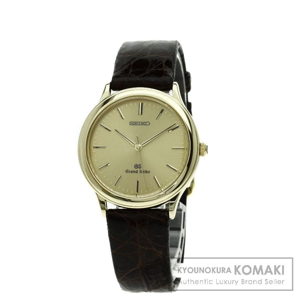 SEIKO 9581-7000 グランドセイコー 腕時計 K18イエローゴールド/アリゲーター メンズ 【中古】【セイコー】