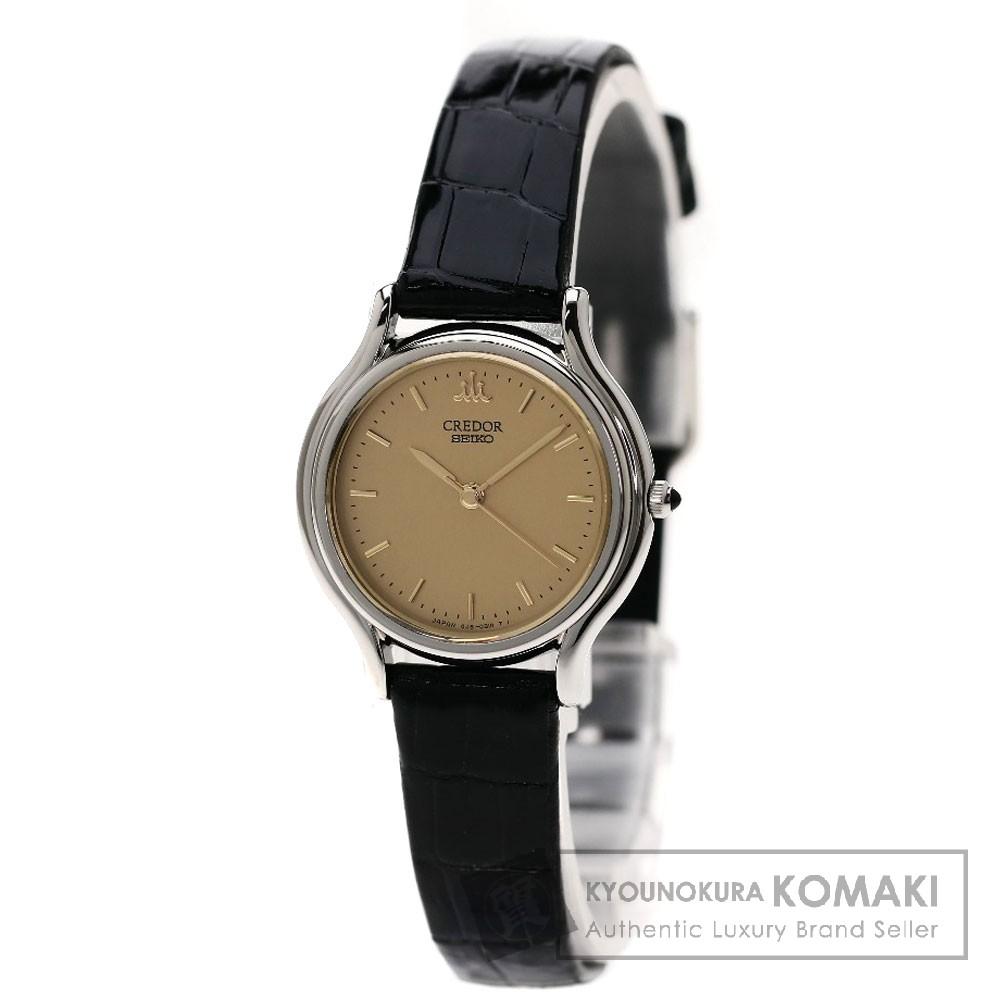 SEIKO GSAS051/4J81-0A40 クレドール 腕時計 ステンレス/革 レディース 【中古】【セイコー】