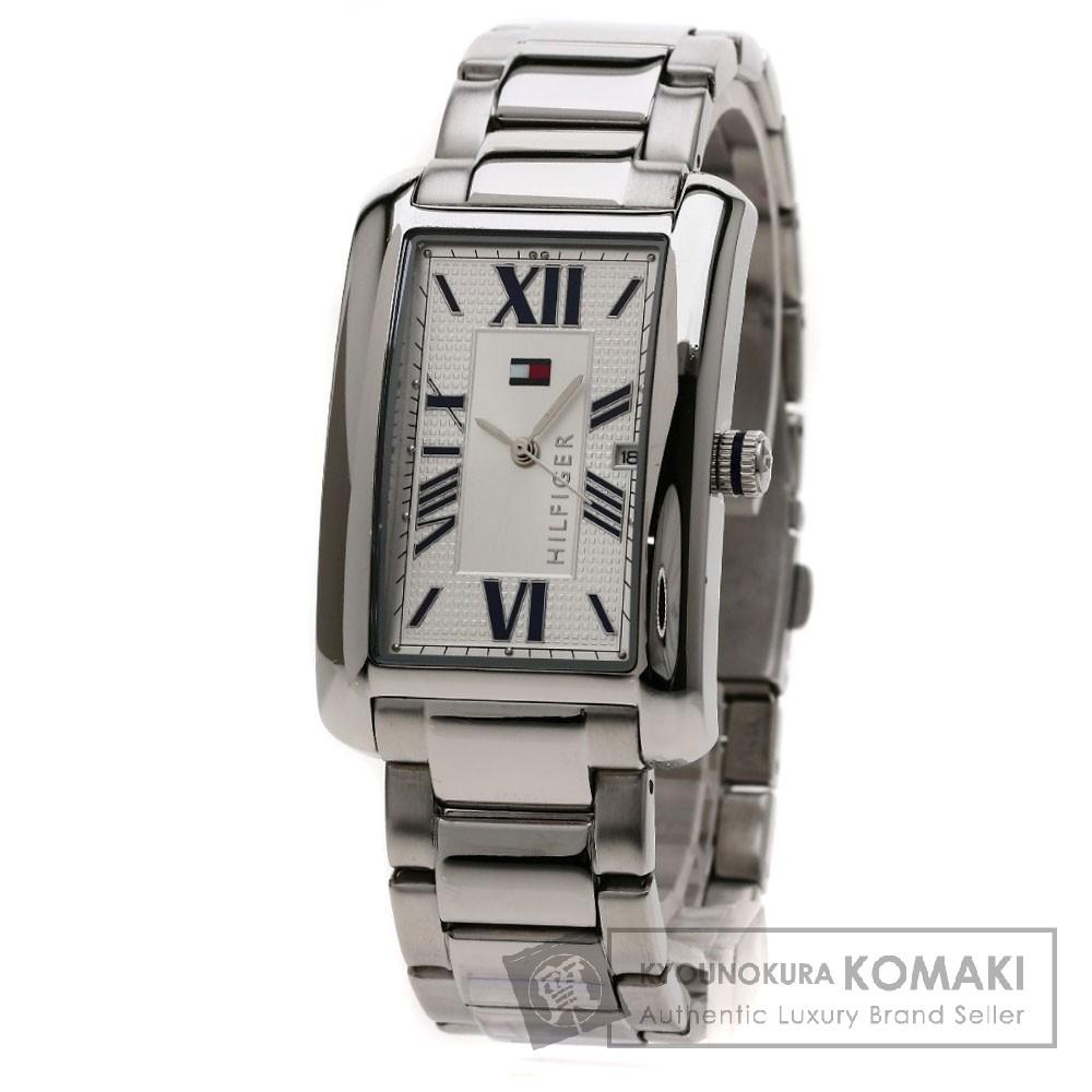 TOMMY HILFIGER レクタングラー 腕時計 ステンレス メンズ 【中古】【トミー・ヒルフィガー】