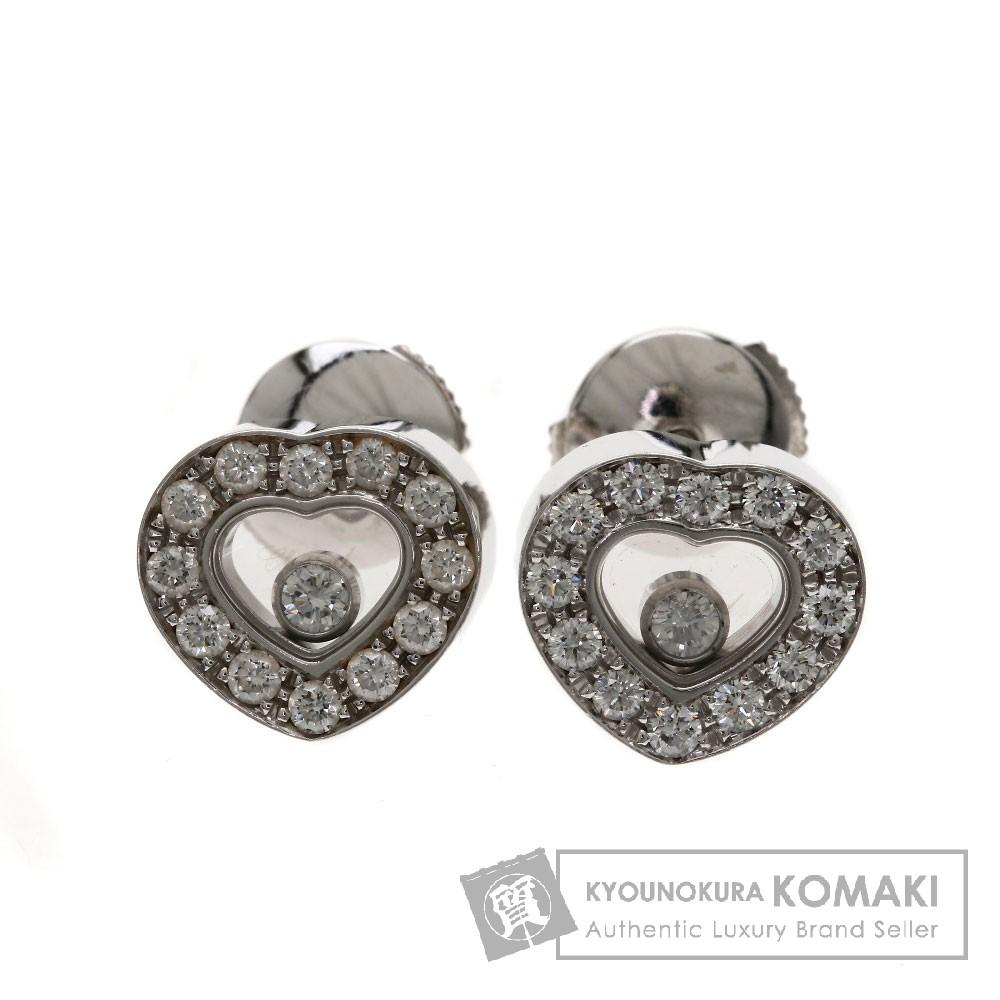 Chopard ハッピーダイヤモンド ピアス K18ホワイトゴールド レディース 【中古】【ショパール】