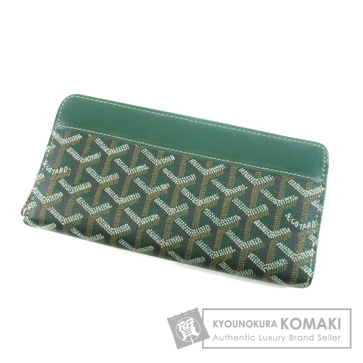 GOYARD ラウンドファスナー 長財布(小銭入れあり) PVC レディース 【中古】【ゴヤール】