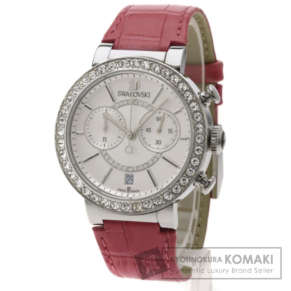 SWAROVSKI 5096008 シトラスフィア 腕時計 ステンレス/革 レディース 【中古】【スワロフスキー】