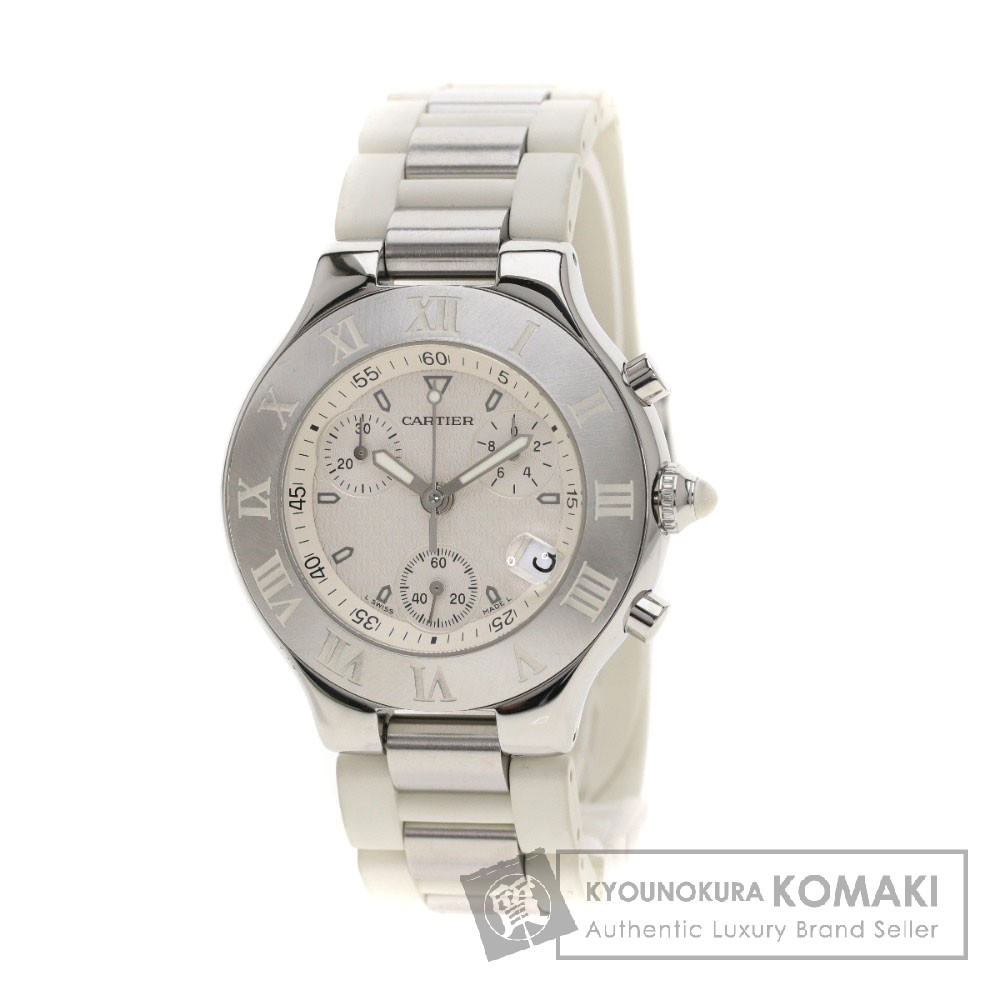 CARTIER クロノスカフ 腕時計 ステンレス/ラバー ボーイズ 【中古】【カルティエ】