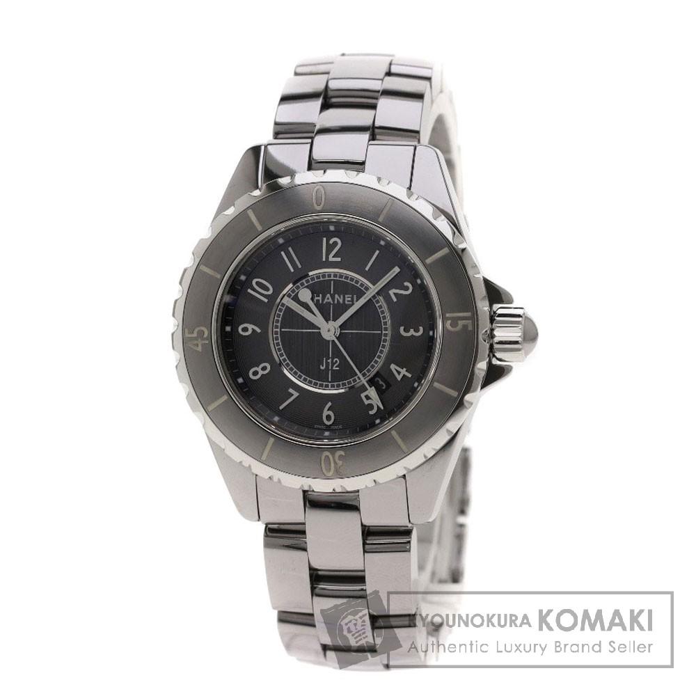 CHANEL H2978 J12 33 クロノマティック 腕時計 チタンセラミック レディース 【中古】【シャネル】