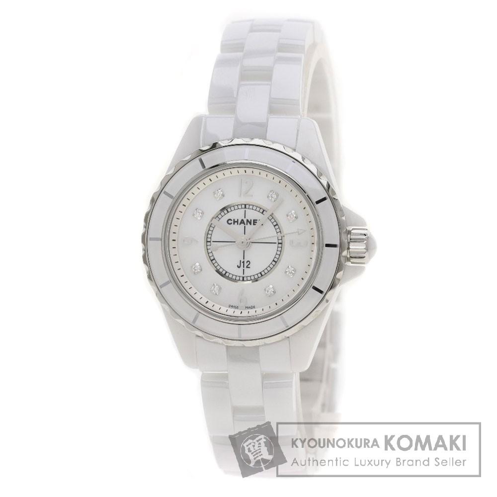 CHANEL H2570 J12 29 8Pダイヤモンド 腕時計 セラミック レディース 【中古】【シャネル】