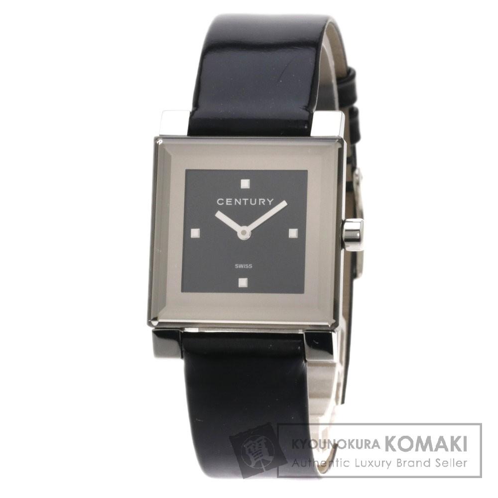 CENTURY タイムジェム 腕時計 ステンレス/革 レディース 【中古】【センチュリー】