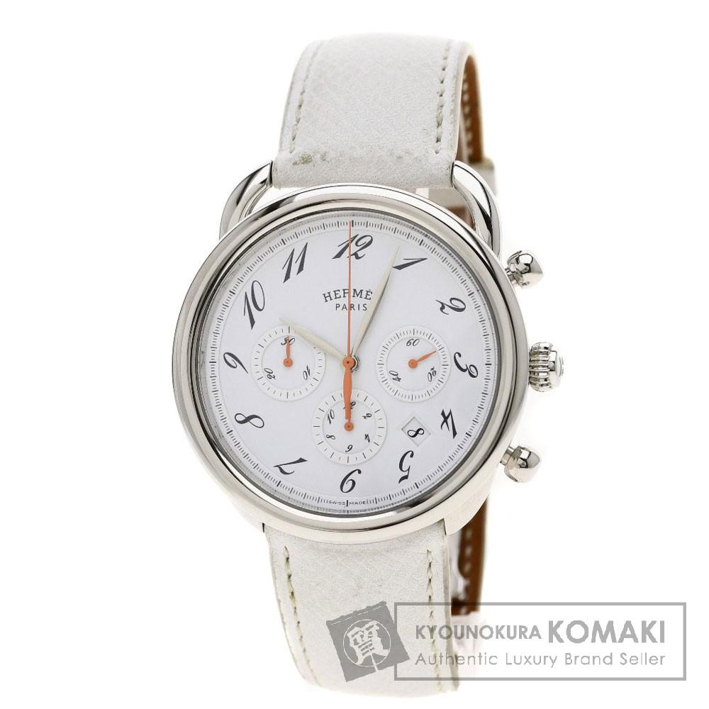 HERMES AR4.910a アルソー クロノグラフ 腕時計 ステンレス/革 メンズ 【中古】【エルメス】