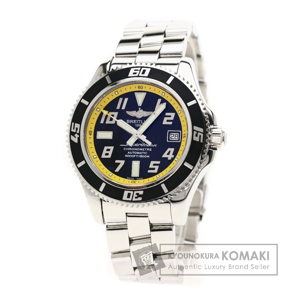 BREITLING A17364 スーパーオーシャン 42 腕時計 OH済 ステンレス メンズ 【中古】【ブライトリング】