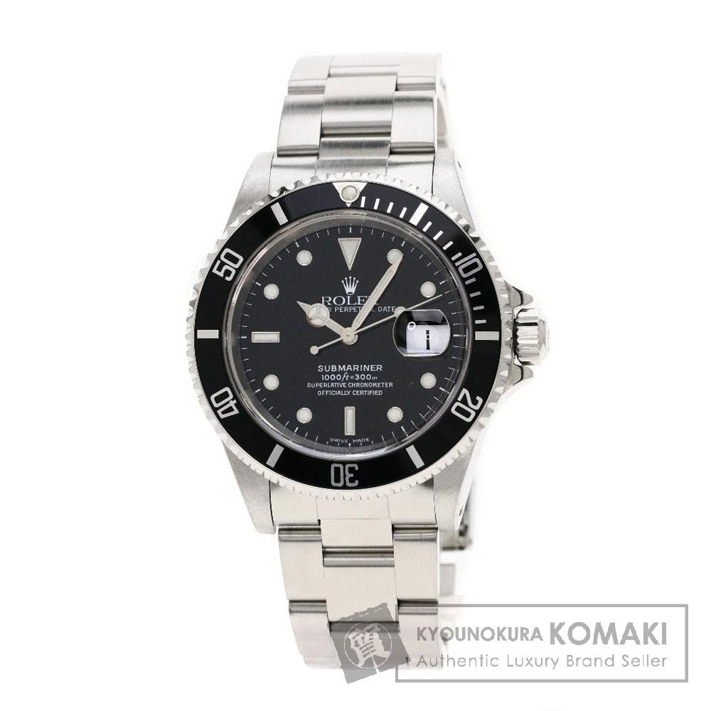 ROLEX 16610 サブマリーナ デイト 腕時計 OH済 ステンレス メンズ 【中古】【ロレックス】