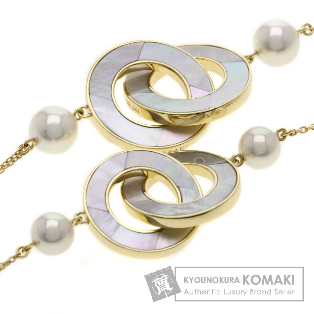 TASAKI パール/真珠 シェル ダイヤモンド ネックレス K18イエローゴールド レディース 【中古】【タサキ】