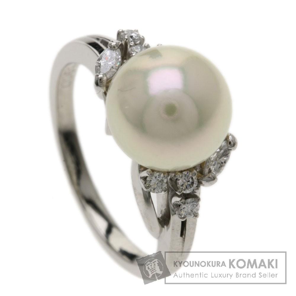 MIKIMOTO パール/真珠 ダイヤモンド リング・指輪 プラチナPT900 レディース 【中古】【ミキモト】