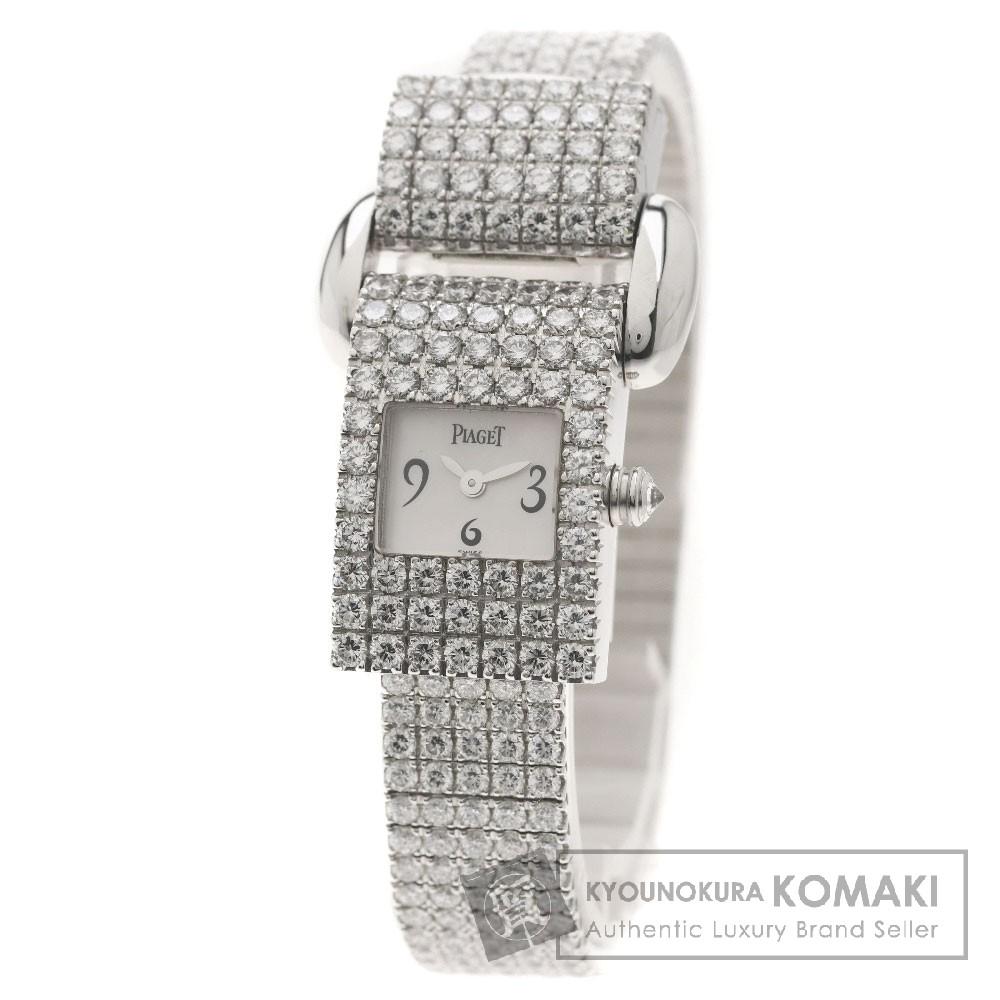 PIAGET ミスプロトコール ダイヤモンド 腕時計 K18ホワイトゴールド レディース 【中古】【ピアジェ】