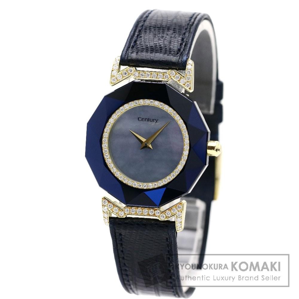 CENTURY スターライト ダイヤモンド 腕時計 K18イエローゴールド/革 メンズ 【中古】【センチュリー】