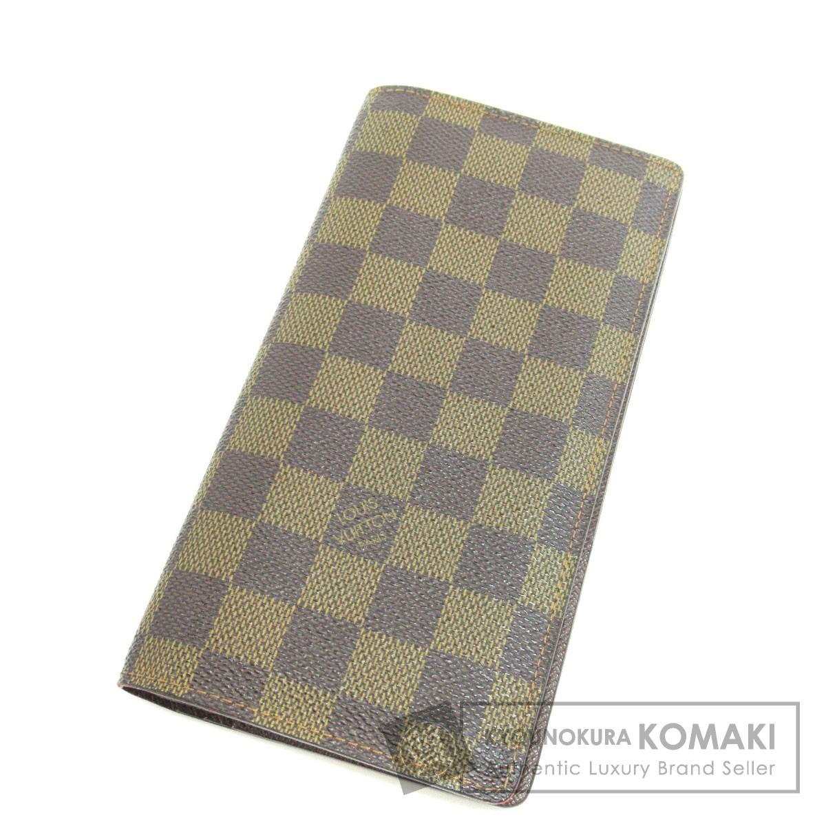 bf777164a138 LOUIS VUITTON N60017 ポルトフォイユ・ブラザ 長財布(小銭入れあり) ダミエキャンバス ユニ