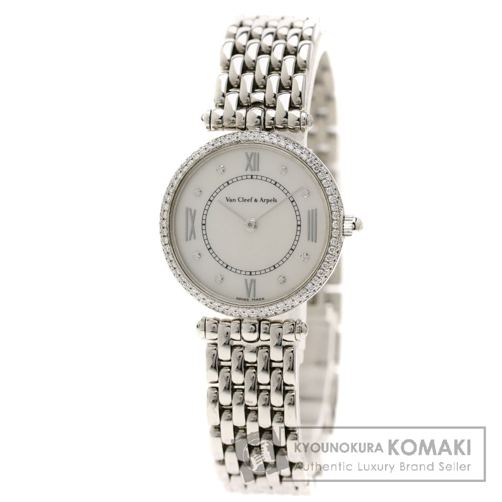 Van Cleef & Arpels PA49S ピエール アーペル 腕時計 K18ホワイトゴールド/ダイヤモンド レディース 【中古】【ヴァンクリーフ&アーペル】