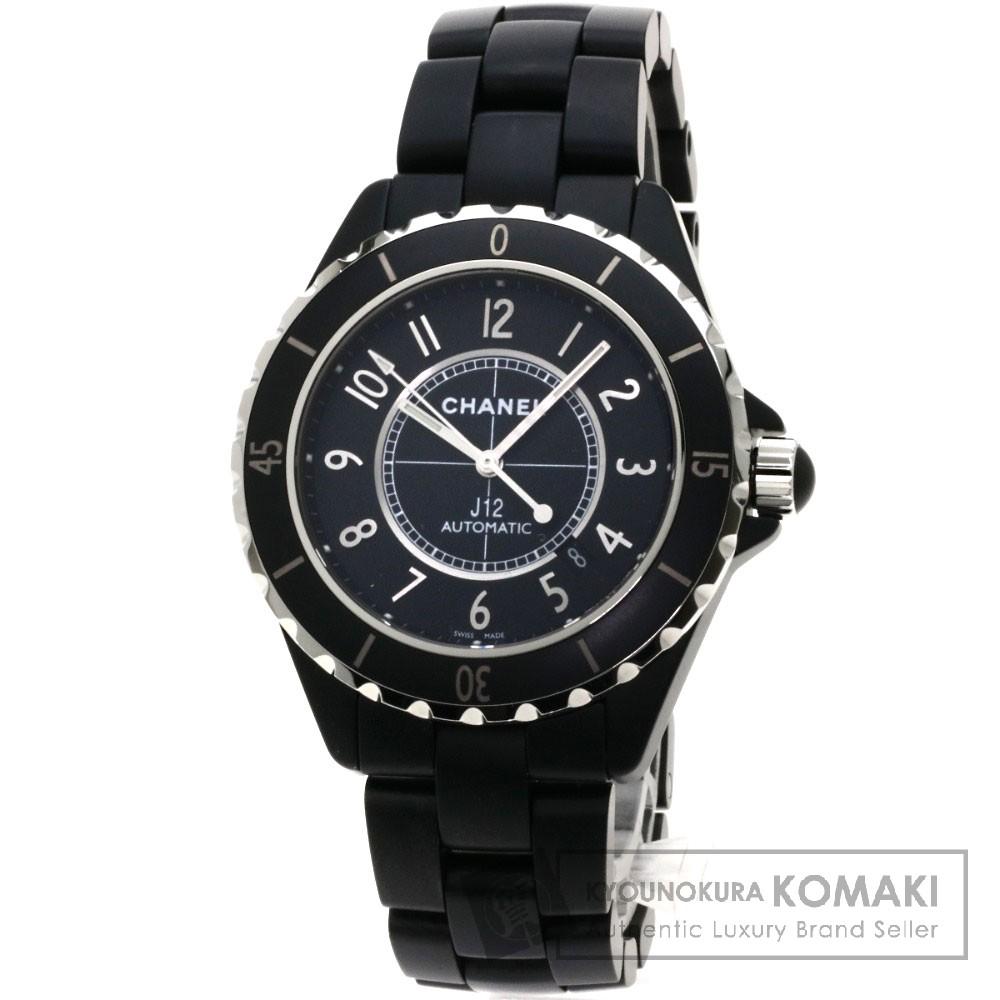 CHANEL H3131 J12 42 マットブラック 腕時計 セラミック メンズ 【中古】【シャネル】