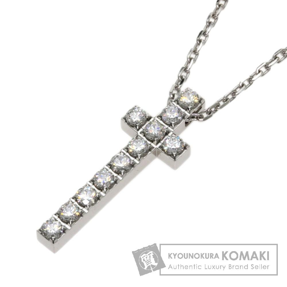 PIAGET ライムライト ダイヤモンド クロス ネックレス K18ホワイトゴールド レディース 【中古】【ピアジェ】