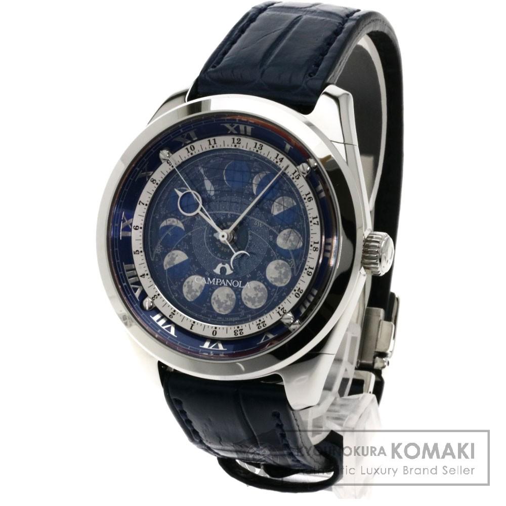 CITIZEN AA7800-02L カンパノラ コスモサイン 腕時計 ステンレス/クロコダイル メンズ 【中古】【シチズン】