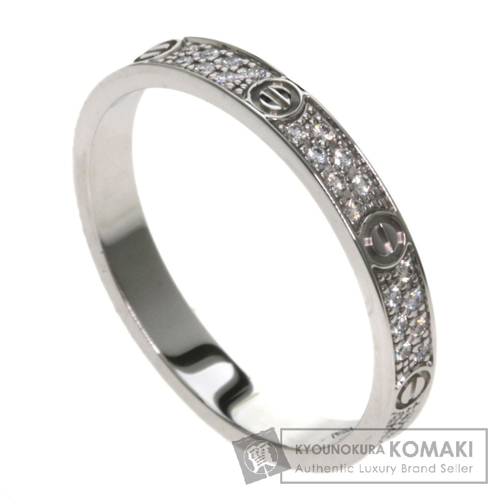 CARTIER ラブリング パヴェダイヤモンド SM B4218200 リング・指輪 K18ホワイトゴールド レディース 【中古】【カルティエ】