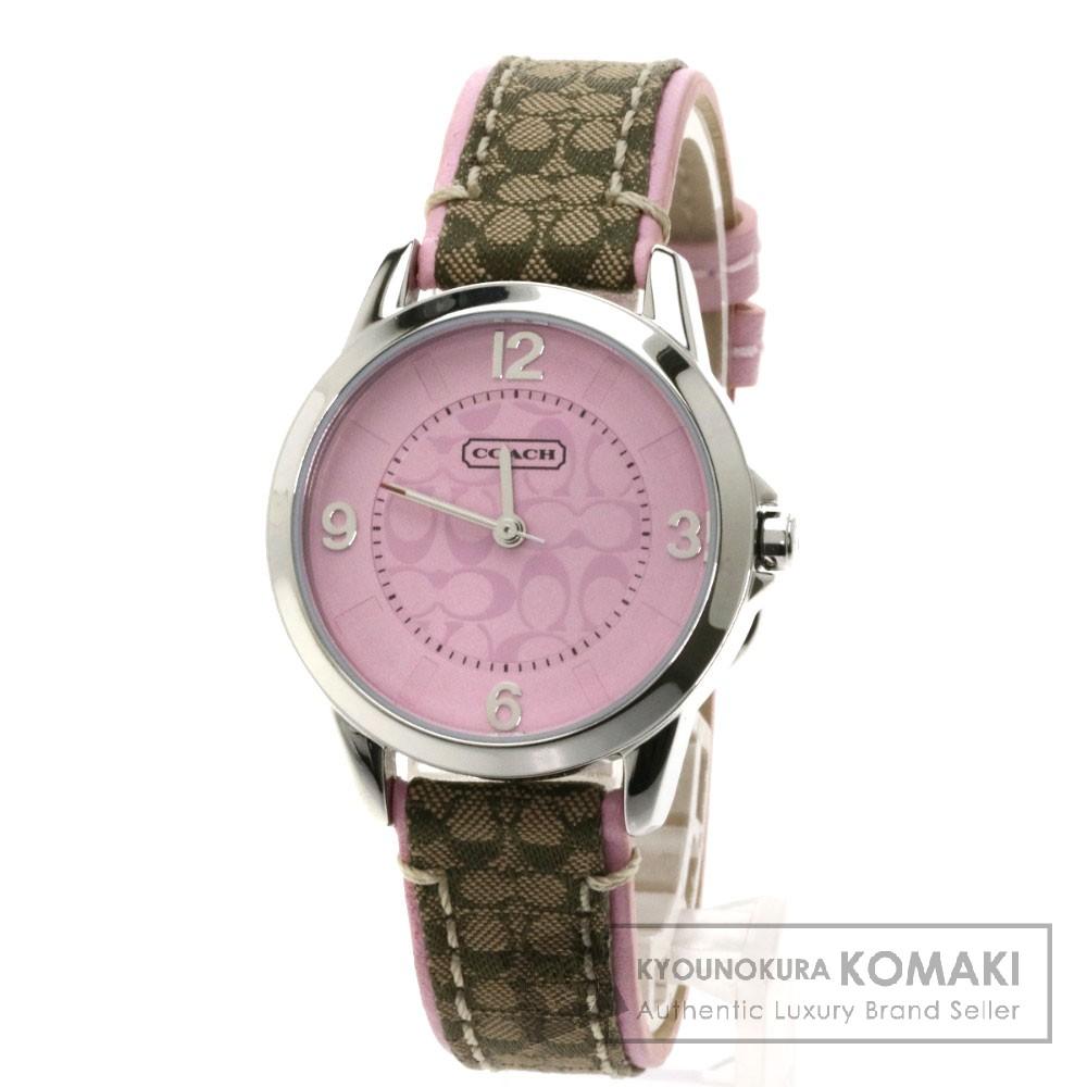 COACH CA.13.7.14.0614 腕時計 ステンレス/革 レディース 【中古】【コーチ】