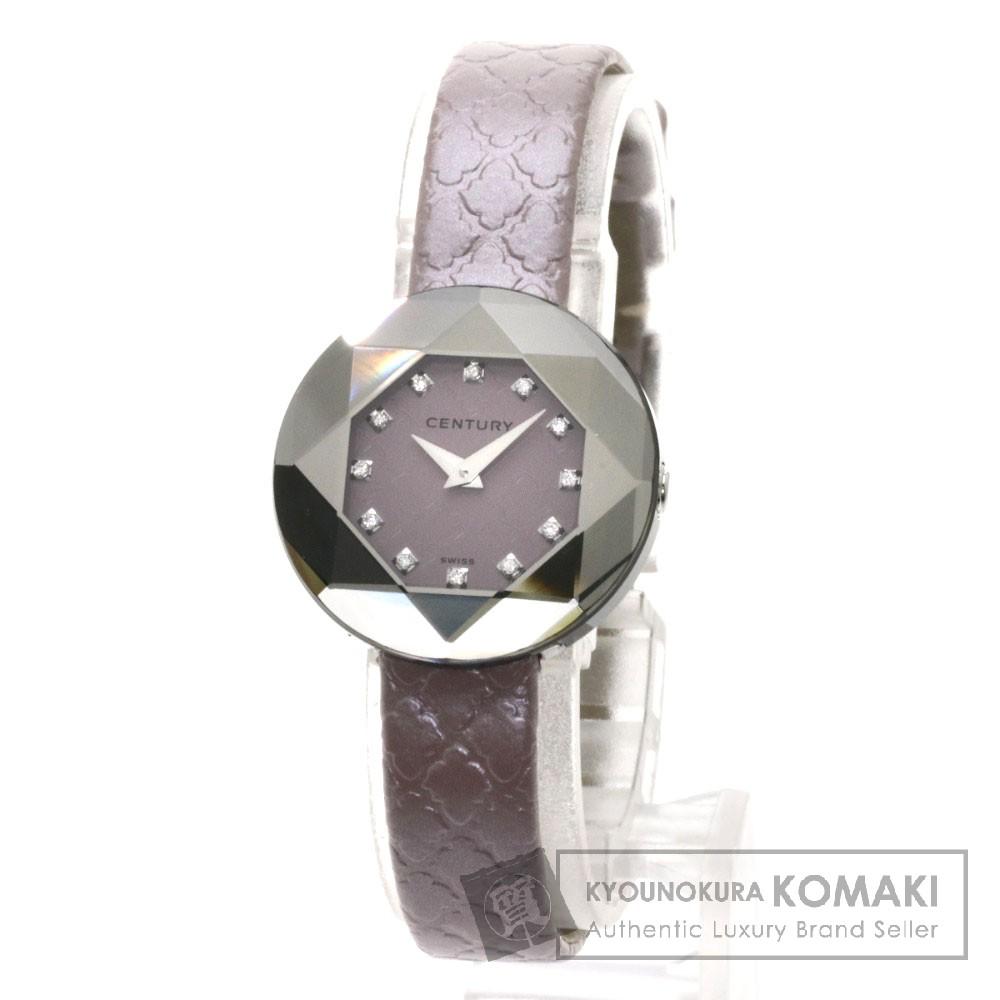 CENTURY 832.7S.M6B.12 クチュール 腕時計 ステンレス/革 レディース 【中古】【センチュリー】