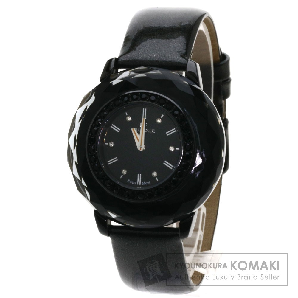 Folli Follie WF0E046SS 腕時計 ステンレス/革 レディース 【中古】【フォリフォリ】