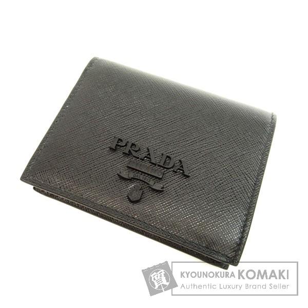 PRADA 1MV204 二つ折り財布(小銭入れあり) レザー レディース 【中古】【プラダ】