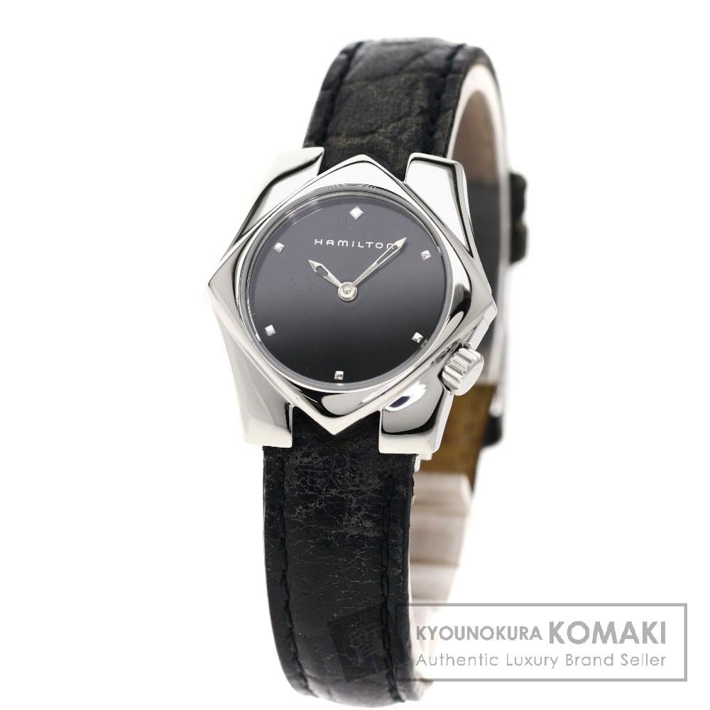 HAMILTON H23211732 スターダム 腕時計 ステンレス/革 レディース 【中古】【ハミルトン】