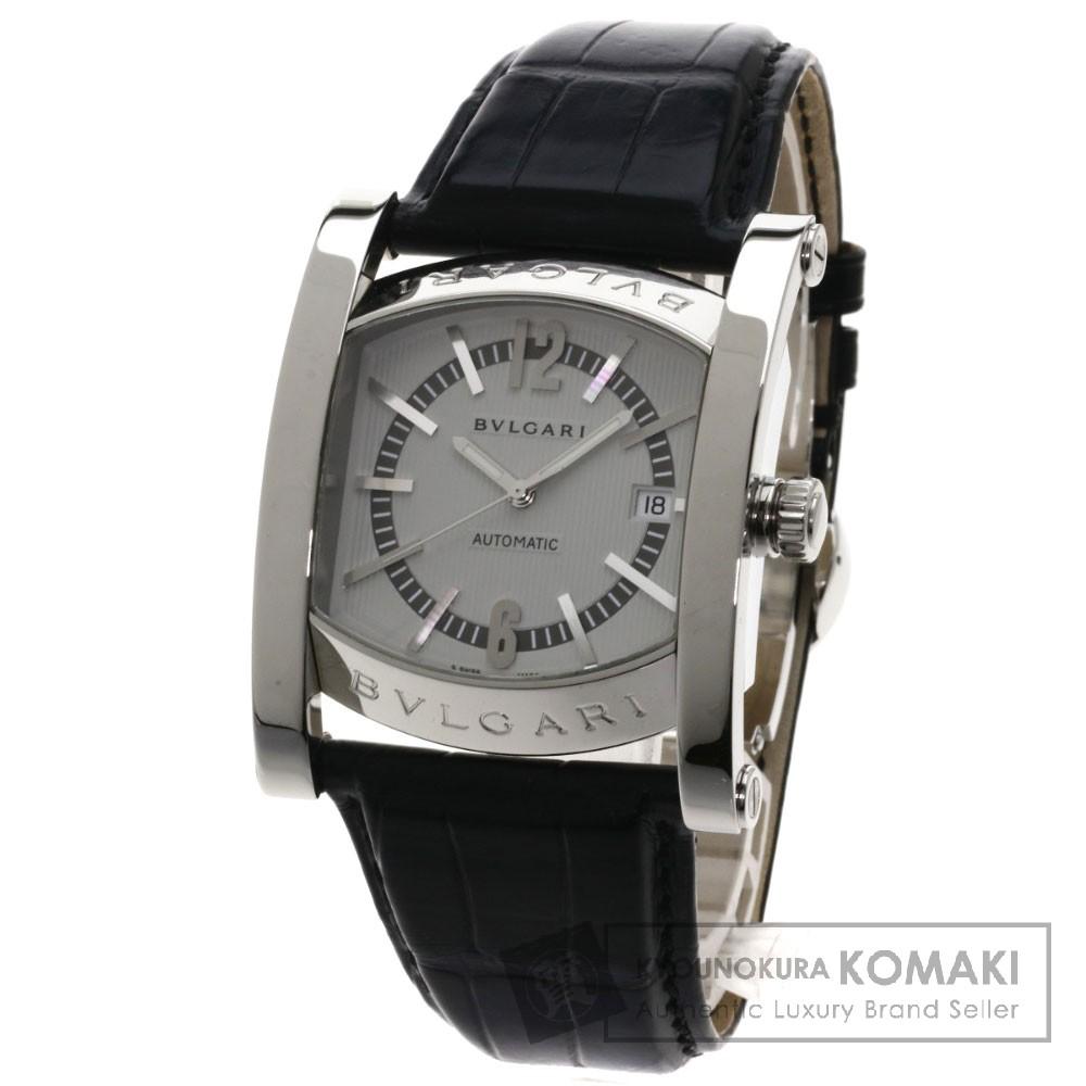 BVLGARI AA48C14SLDCH アショーマ 日本限定 腕時計 OH済 ステンレス/アリゲーター メンズ 【中古】【ブルガリ】